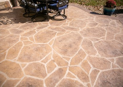 Patios for Patriots concrete stamping project by contractors from around the U.S.