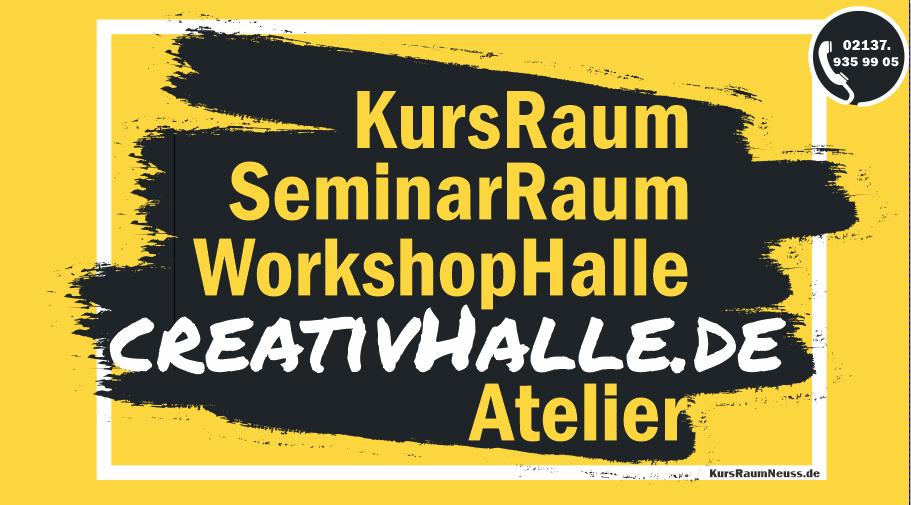 KursRaum Seminar Ateltier und WorkShop Raum Schild