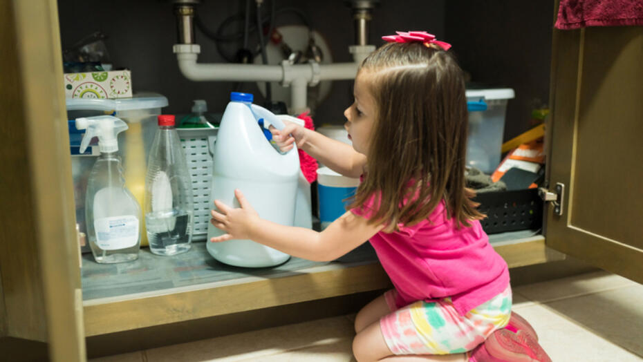 storing cleaning products when you have