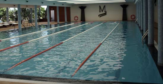 Indoor swimming pool at Las Marinas Club Resort, Costa Teguise, Lanzarote