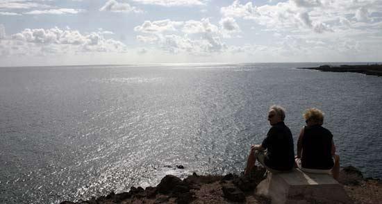 Vistas del sendero Costa Teguise-Los Cocoteros-Charco del Palo, senderismo en Lanzarote