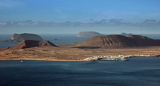 Vistas del Archipiélago Chinijo, La Graciosa, Lanzarote, playas