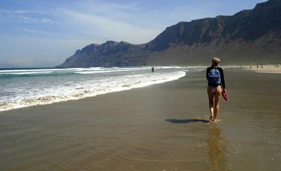 Strolling around Famara beach, Lanzarote