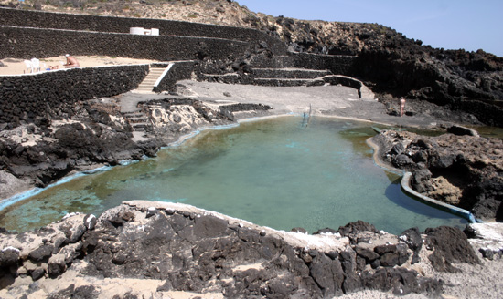 Piscinas naturales de Charco del Palo en Mala, Lanzarote