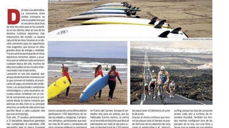 Lanzarote, isla del deporte, según el diario Sport