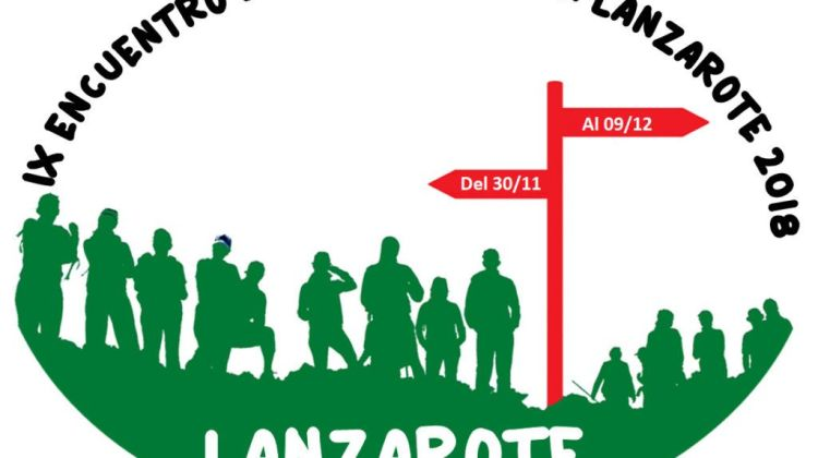 cartel encuentro senderismo Lanzarote 2018