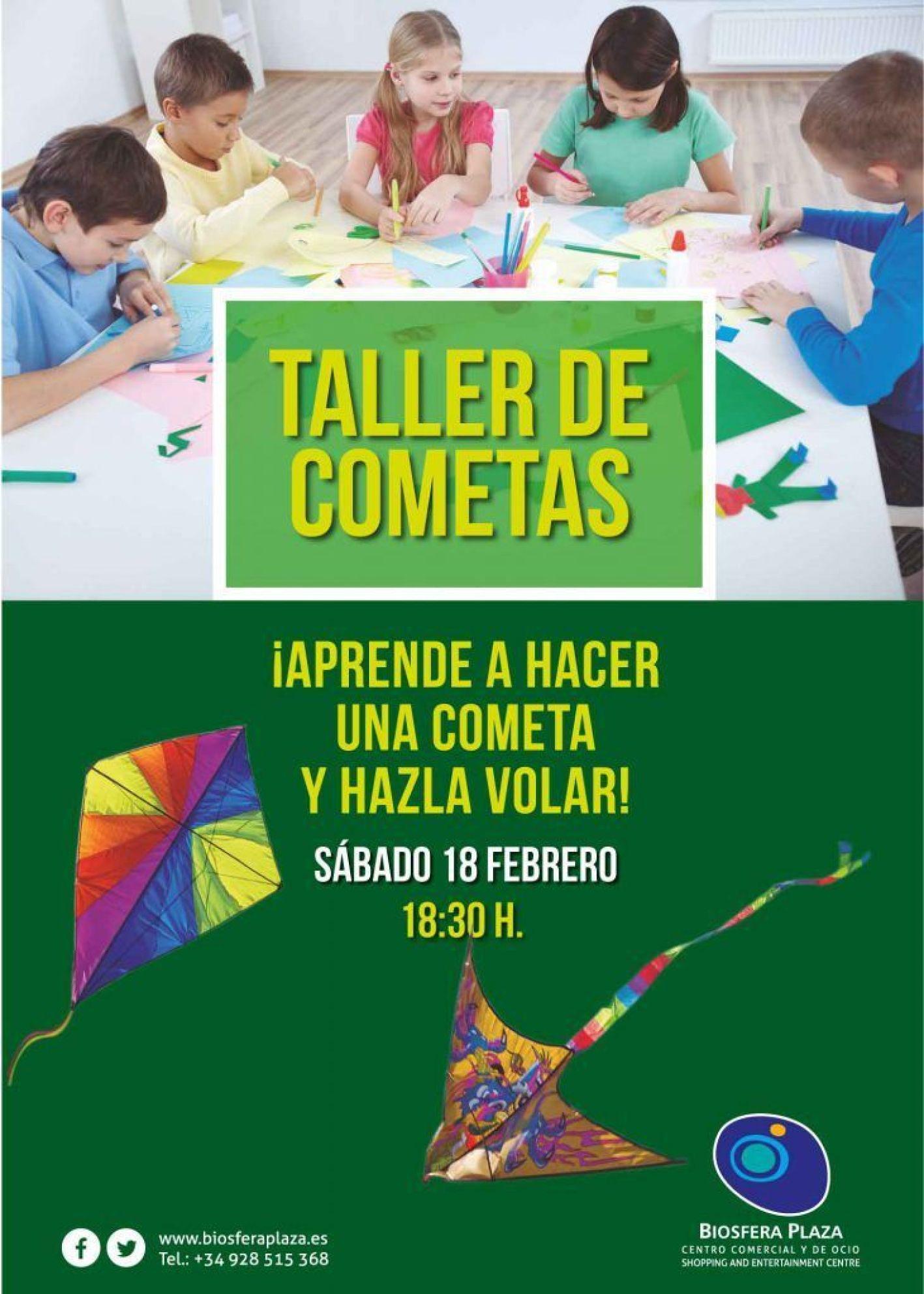 taller infantil cometas biosfera plaza