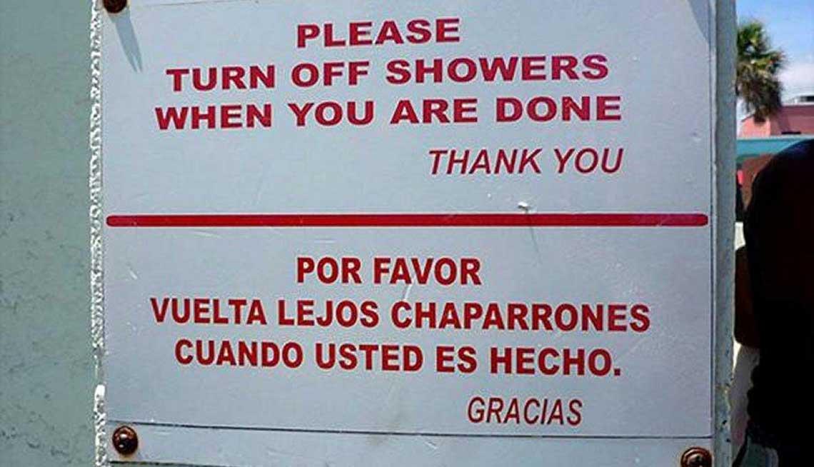 Traduccion Lanzarote - error divertido