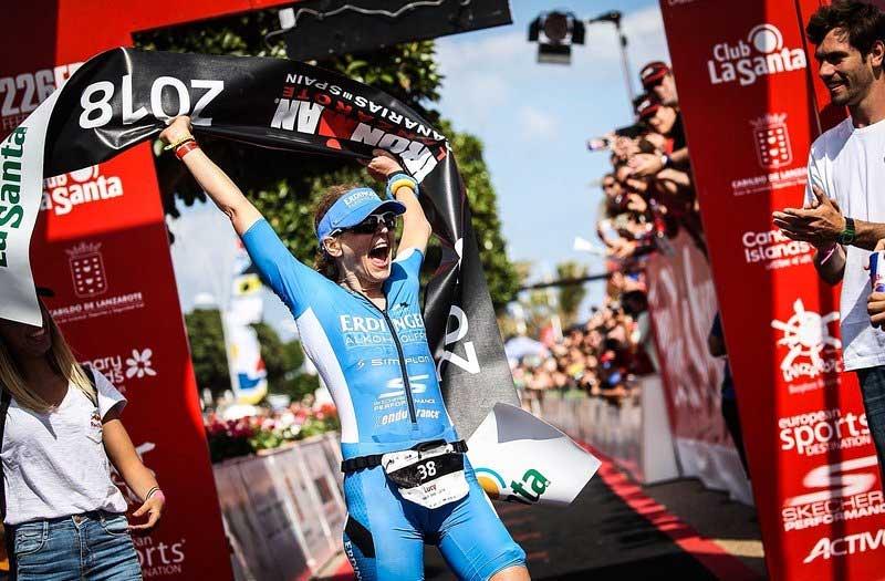 Lucy Gossage ganadora Ironman Lanzarote 2018