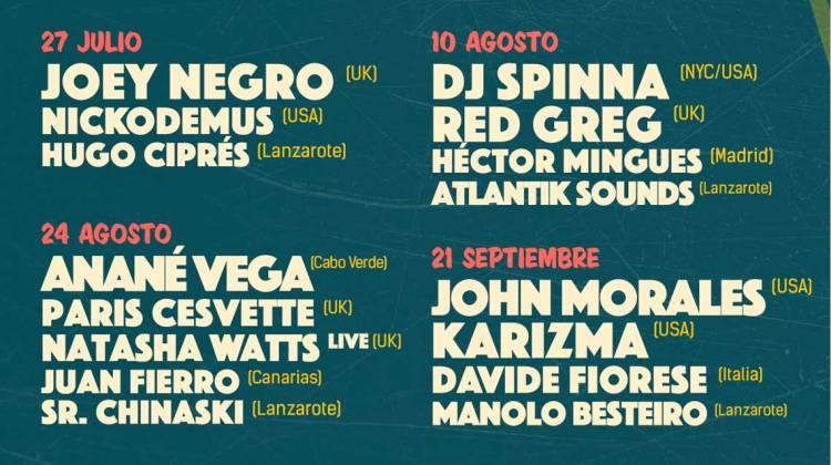 Jameos Music Festival 2018 (Julio, agosto y septiembre)