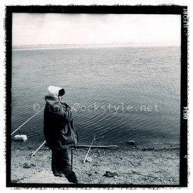 Khanty-Mansi: the fisherman by the river Ob