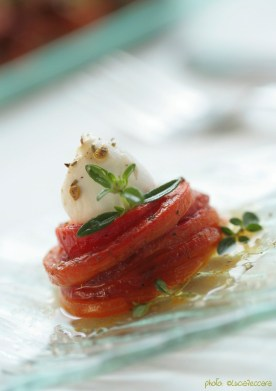 Nest of Grilled Red Bell Peppers with Cherry-Mozzarella... | Recipe & Styling: Orsola Ciriello Kogan | Photo: ©LuciaZeccara
