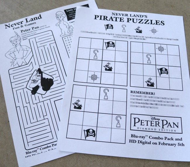 peter pan printables