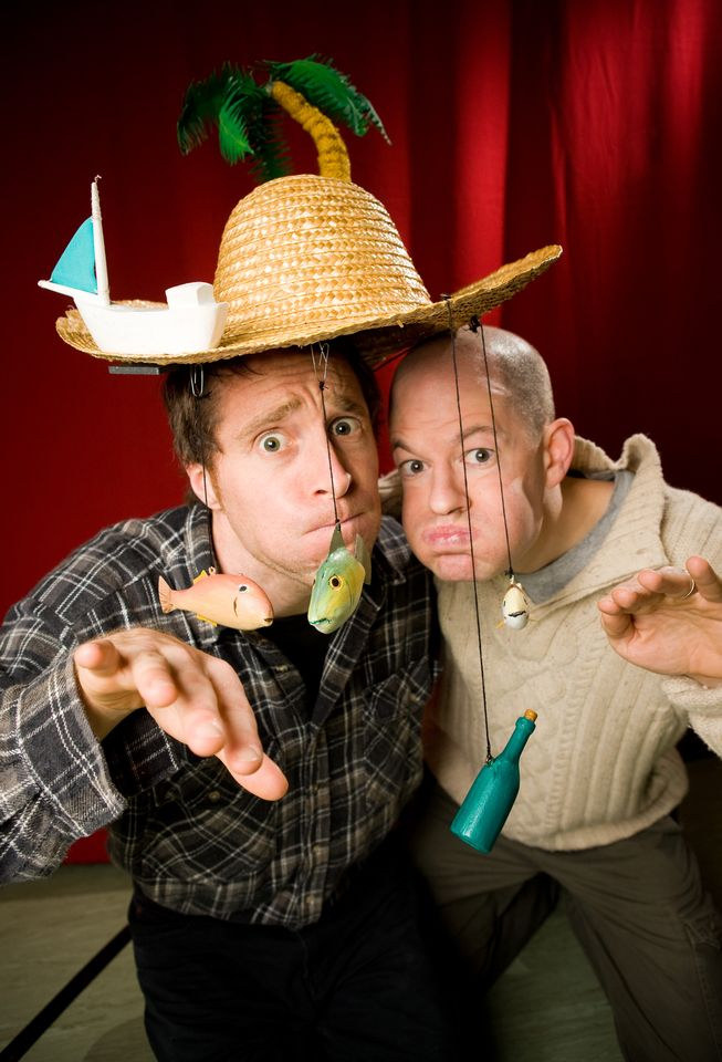 3) Terrapin Puppet Theatre - Performers Quinn Griggs and Jeff Michel © Peter Mathew