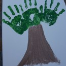 Father's Day Handprint Tree