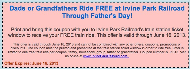 FreeTrainRideIrvineParkRailroad