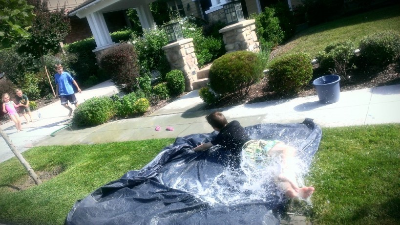 slip n slide summer activity