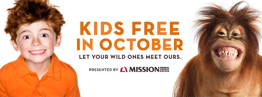 Kids are Free in October at the San Diego Zoo and Safari Park