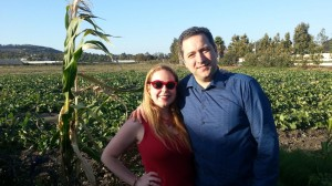 Dani and Hubby in the Corn Field