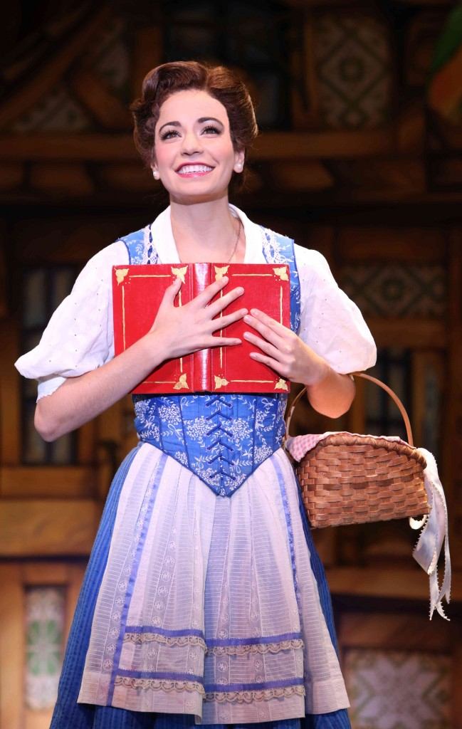 Hilary Maiberger as Belle. Photo by Joan Marcus