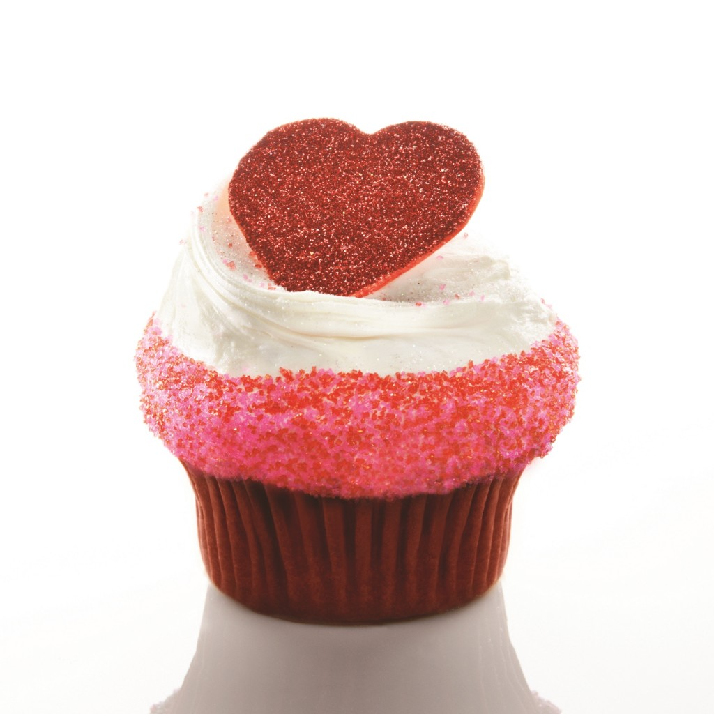 Cupid Chocolate Coconut Red Velvet Cupcake