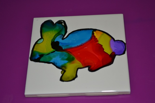 DIY-Alcohol-ink-easter-coaster-18