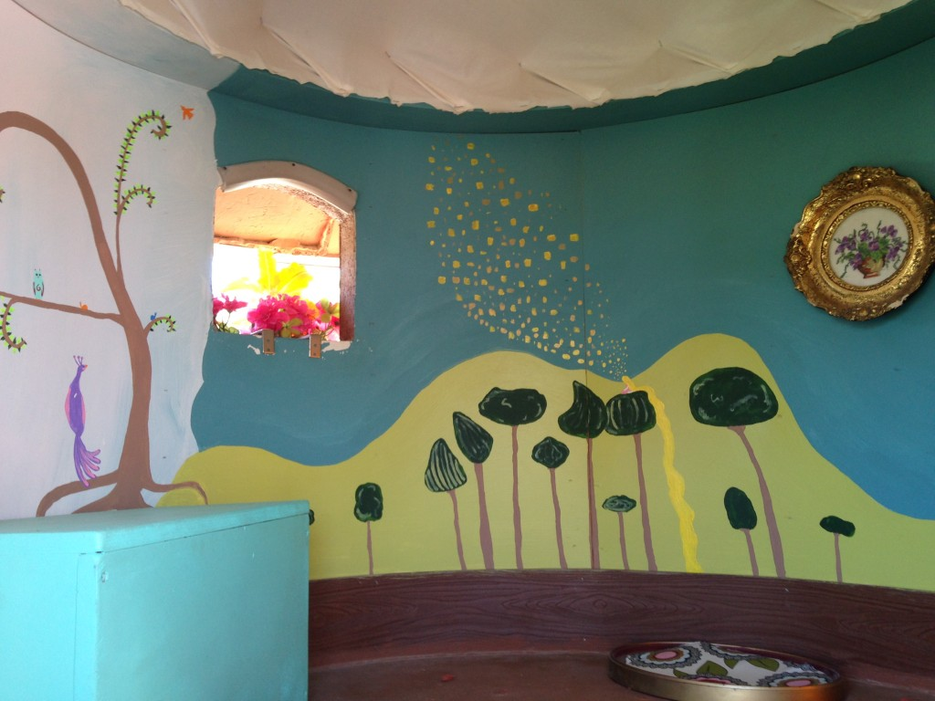 Tangled Mural inside of one of the bedrooms on the UP House