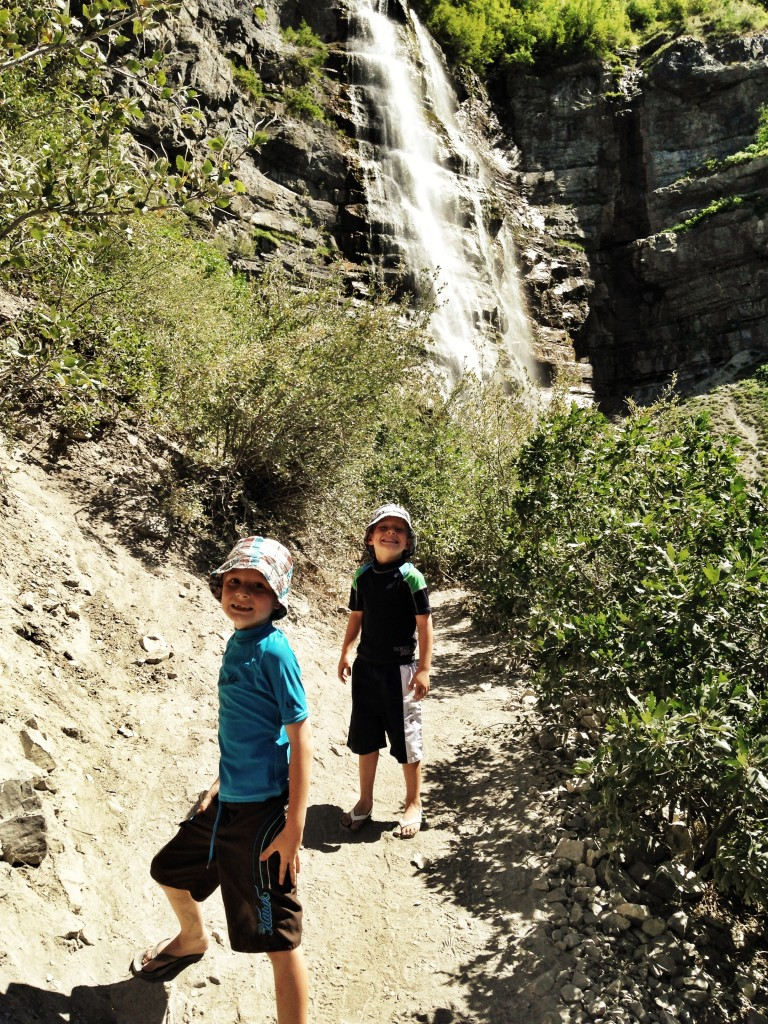 Hiking on the trail to Bridal Vail Falls