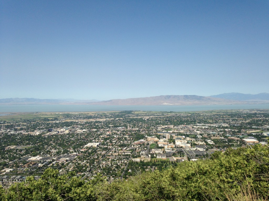 View of Utah Valley from Y Mountain