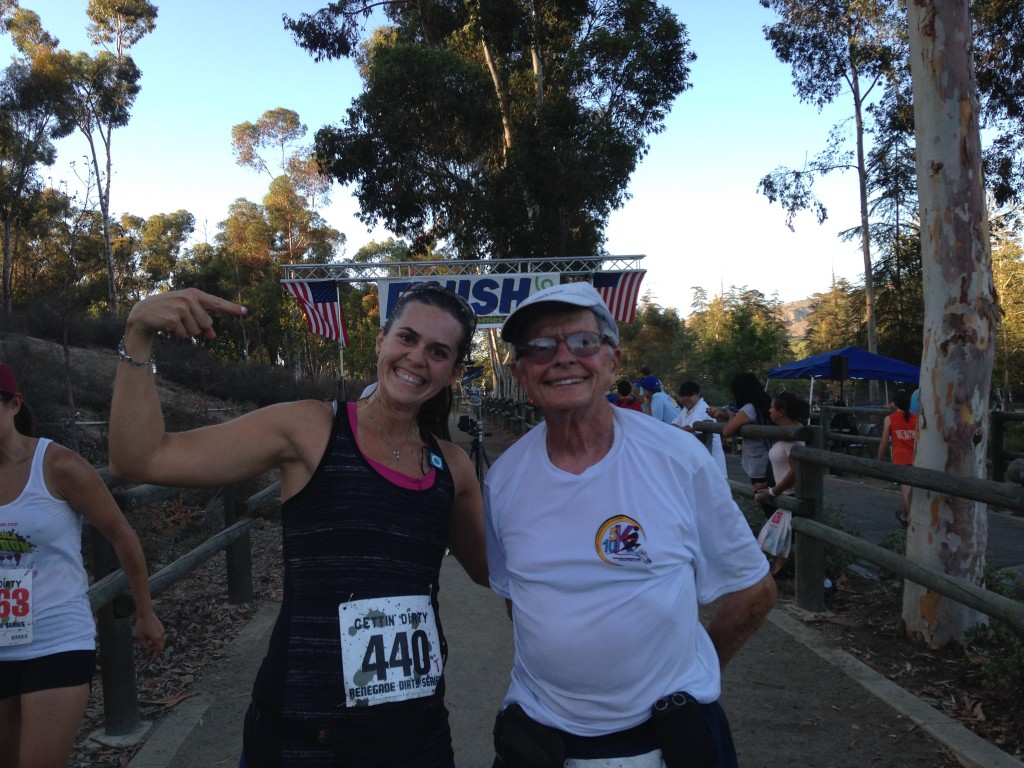Sandra with this 84 year old runner who finished seconds behind her - so impressive!