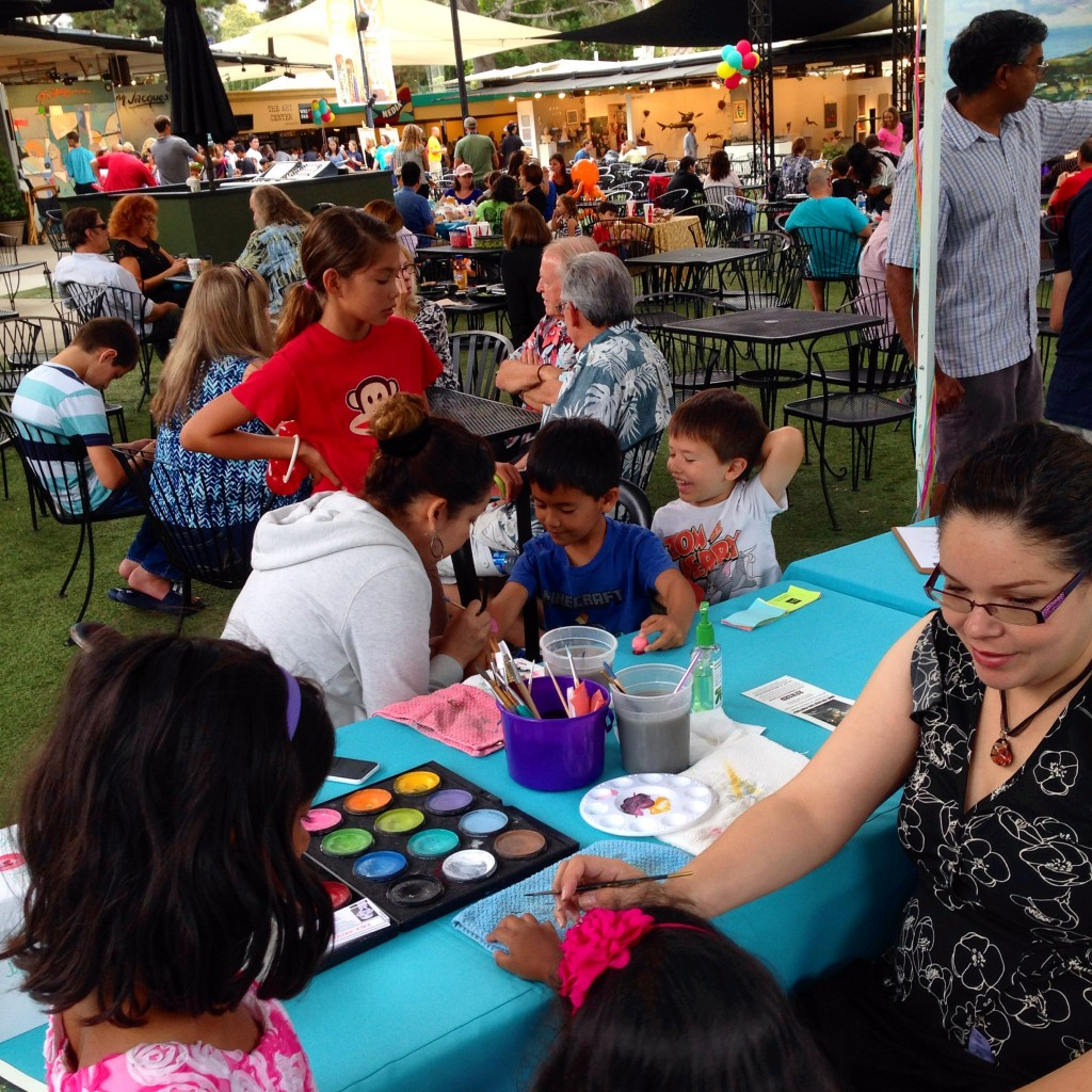 family art day - face painting