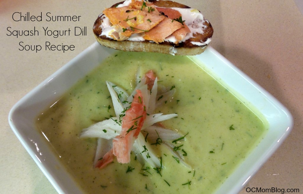 Chilled Summer Squash Yogurt Dill Soup Recipe