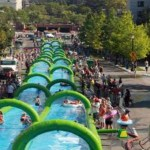 Slide the City Brings World's Largest Slip 'n Slide to Orange County