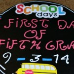 DIY Back-to-School Chalkboard Photo Prop