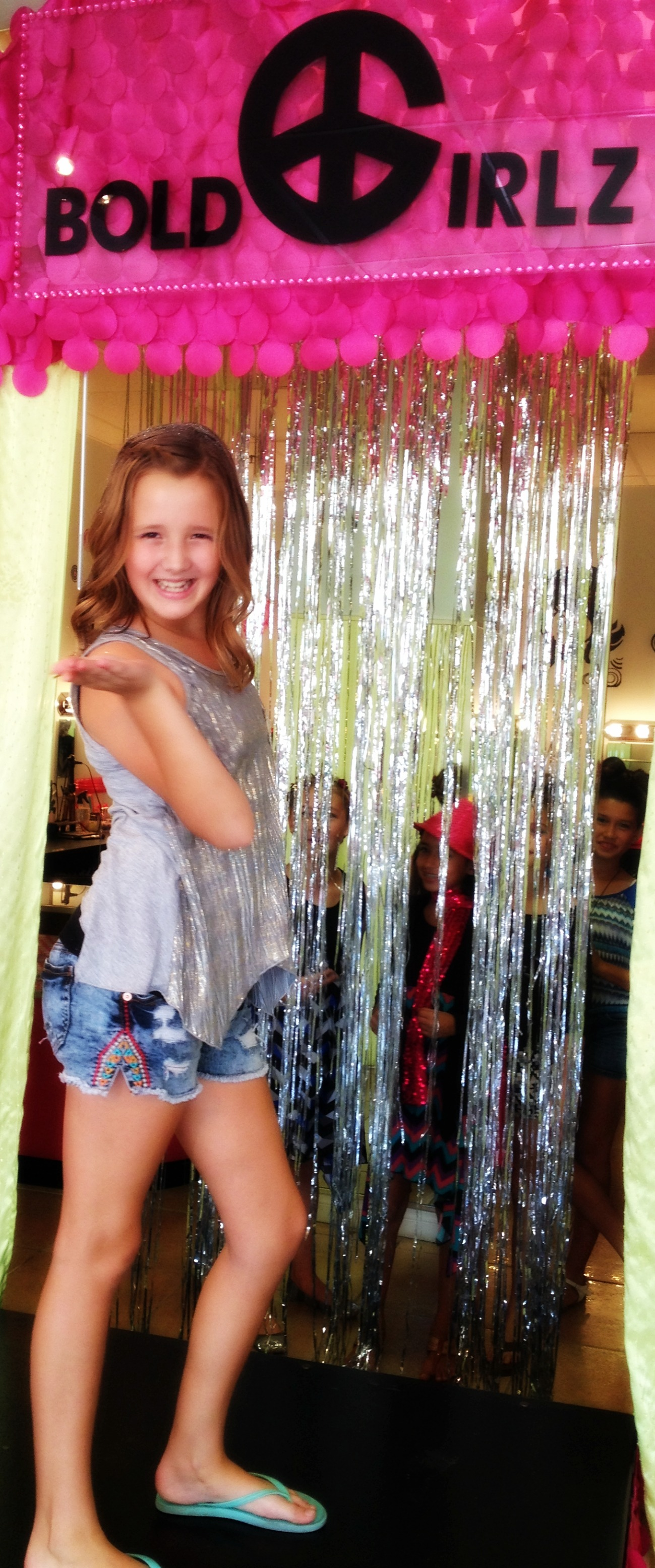Working the runway at her birthday party at Bold Girlz.