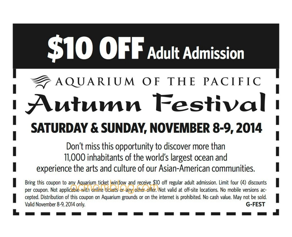 Autumn Festival 2014 coupon 10