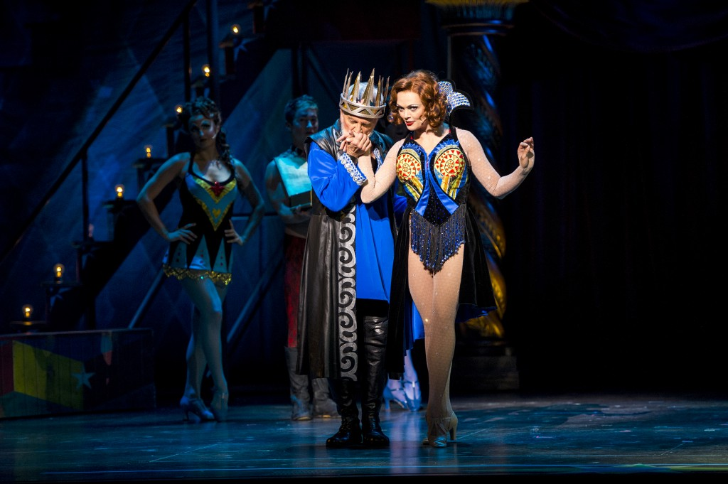 Segerstrom Center - John Rubinstein as Charlemagne and Sabrina Harper as Fastrada in the national touring production of PIPPIN - Photo credit Terry Shapiro_3