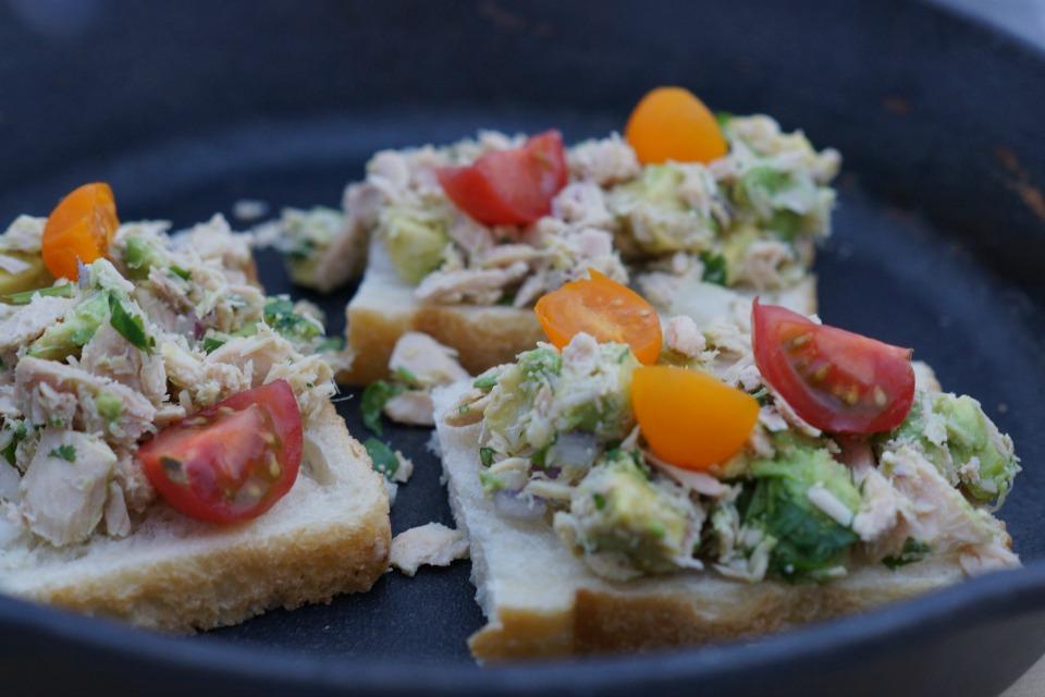 Gourmet Heirloom Tomato Tuna Melts