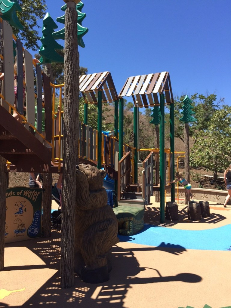 Forest themed playground in Orange County