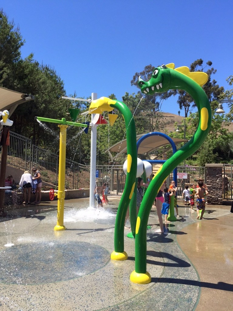 Parks with water play in Orange County