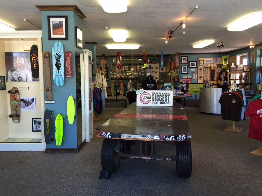 Inside of the Morro Bay Skateboard Museum