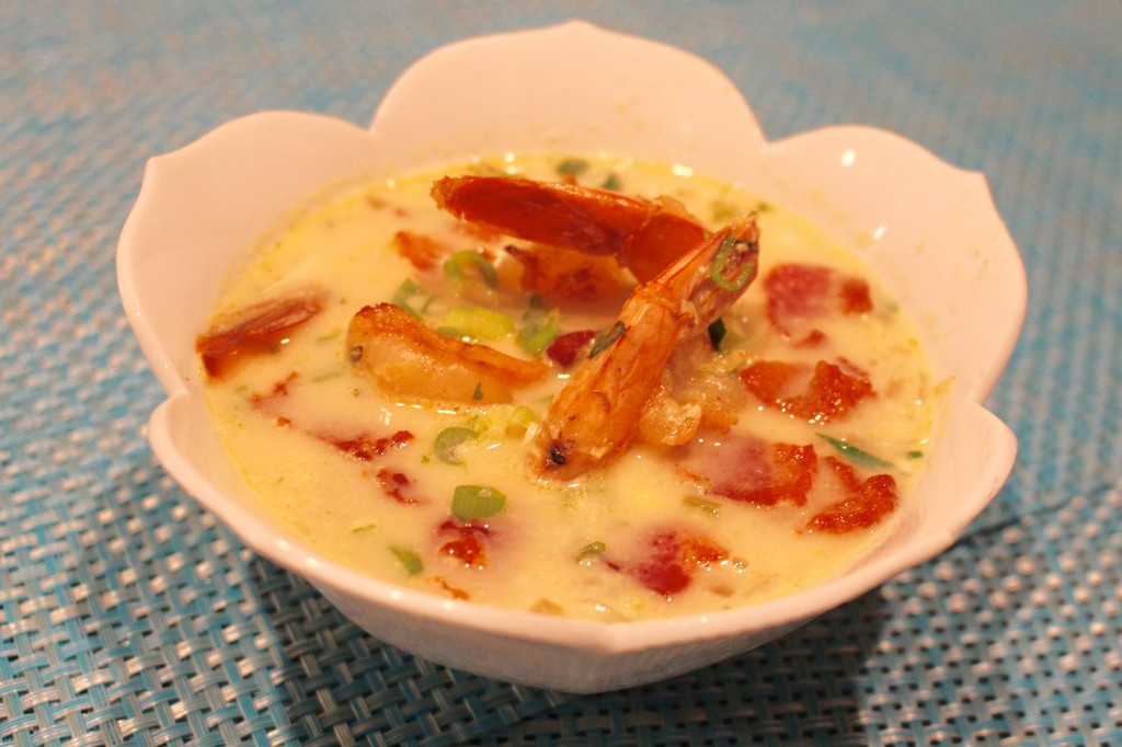 Smoky Summer Corn and Shrimp Chowder