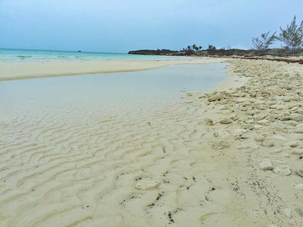 The waves in the sands of the Turks and Caicos