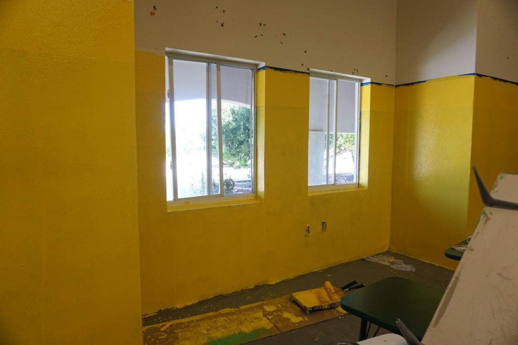 Painting a classroom in the Turks and Caicos #BeachesMoms