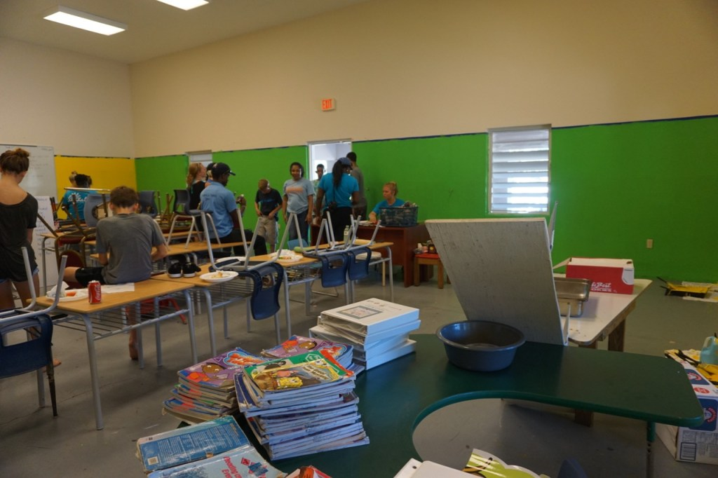 Volunteering at a school in the Turks and Caicos #BeachesMoms