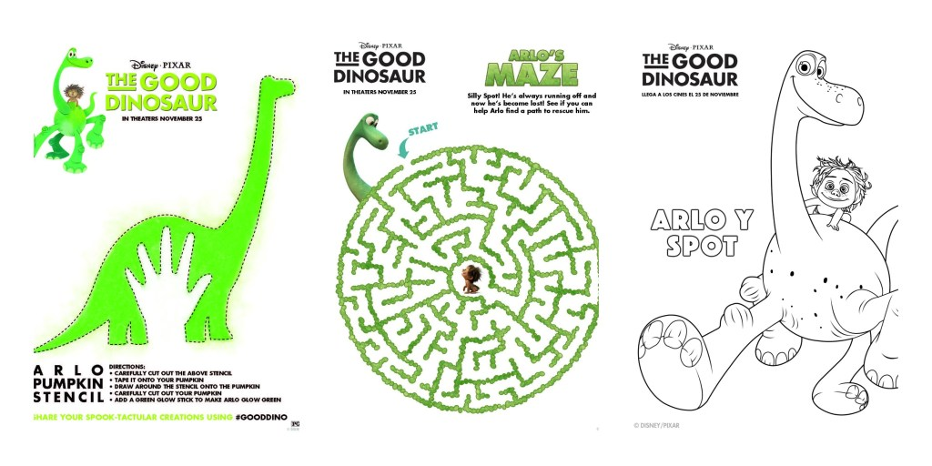 Free Printable for the movie The Good Dinosaur