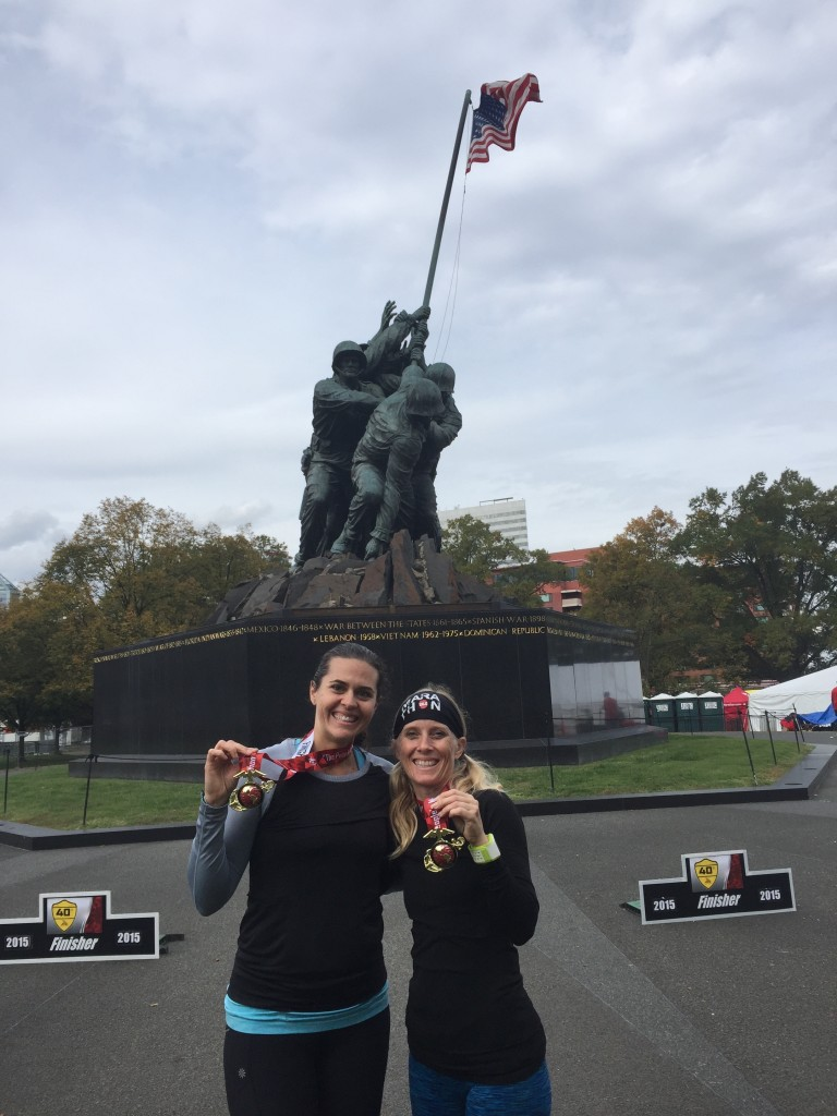 MCM Finishers at the Marine Corps War Memorial