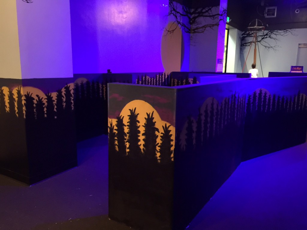 Spooky Science Maze at Discovery Cube OC #DiscoveryCubeMoms