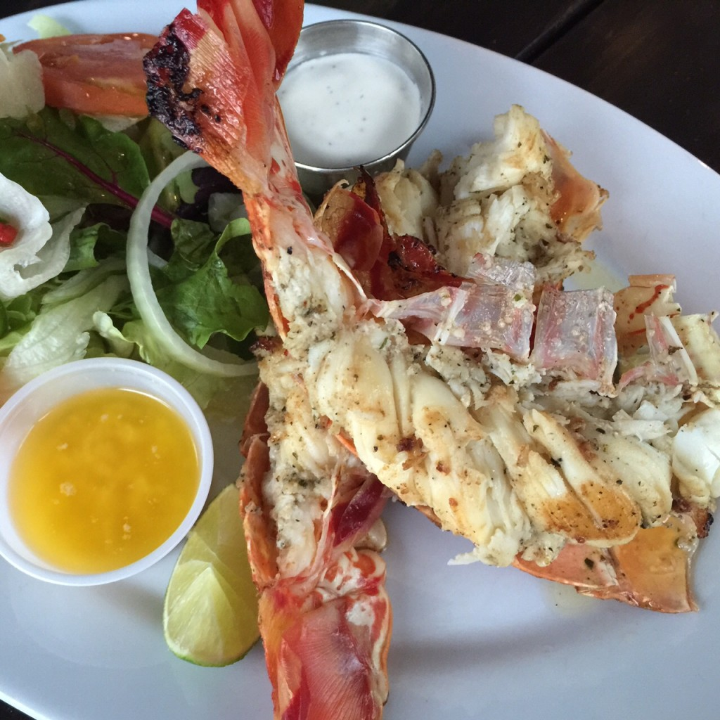 The delicious lobster at Bugaloo's in the Turks and Caicos