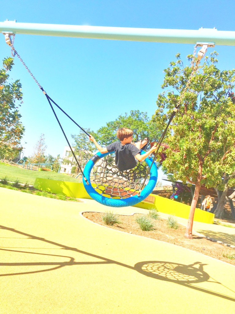 Trampoline swing at Tree House Park at Beacon Park in Irvine